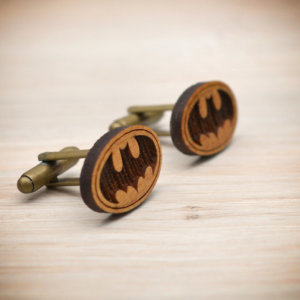 BATMAN cufflinks - Wood  elegant cuff links