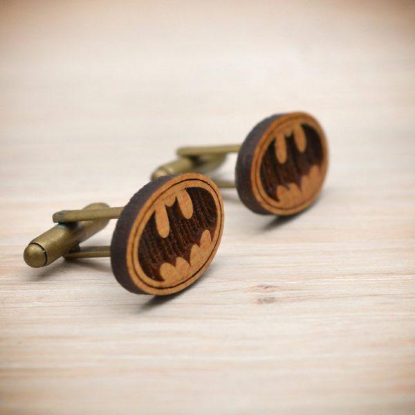 BATMAN cufflinks - Wood  elegant cuff links