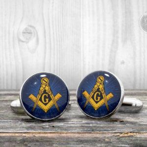 Cufflinks - FREEMASONRY masonic logo -  Cool gift idea