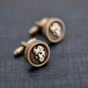 Cufflinks Friday the 13th  - Vintage style acrylic cuff links