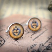 "Cufflinks - Gothic- Steampunk ""Sacred heart - EX VOTO"" - vintage style -  hand made - Gift for Him -"