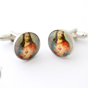 Cufflinks Sacred Heart of JESUS -