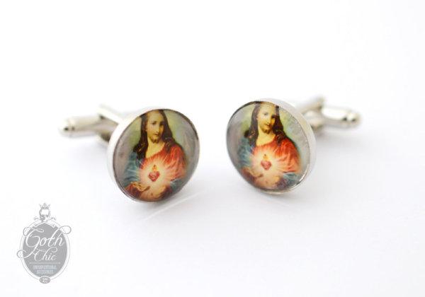 Cufflinks Sacred Heart of JESUS -