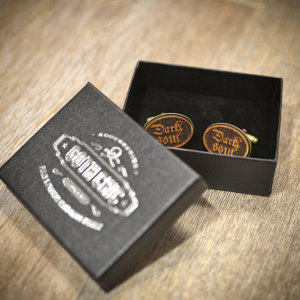 DARK SOUL cufflinks - Wood  elegant cuff links