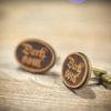 DARK SOUL cufflinks - Wood  elegant cuff links