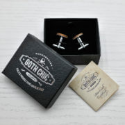ELEGANT WOOD cufflinks - spoon and fork stylish accessory
