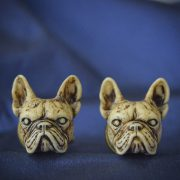 French Bulldog Cufflinks - Victorian Hand made resin French Bulldog or Boston Terrier cuff links