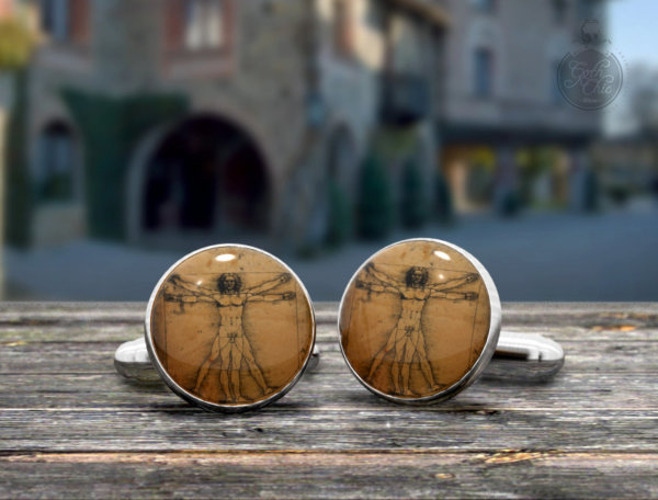 Italian Artists cufflinks - Stylish Leonardo da Vinci cuff links