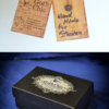 Raven Skull replica with customizable handmade certificate and gift box - aged bone color -