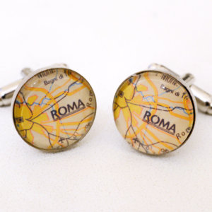 Rome map cufflinks - The great BEAUTY cuff links