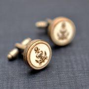 Sailor anchor Cufflinks - Vintage style acrylic cuff links