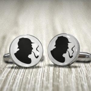 Sherlock Holmes Cufflinks -Groom, Groomsman, Best Man or TEAM Groom Cuff Links