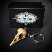 Skull KEYCHAIN  - RAVEN  Skull replica Keychain with hand made certificate - Gift Idea