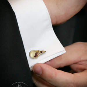 Sparrow Skull Cufflinks - Hand made realistic replica bird skull cuff links