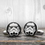 Star Wars cufflinks - STORMTROOPER helmet - Very elegant mens cuff links