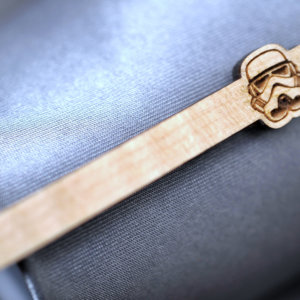 Star Wars Tie Clip - Maple wood STORMTROOPER  tie bar