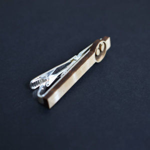 Star Wars Tie Clip REBEL ALLIANCE logo - Maple wood tie bar