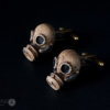 Steampunk Cufflinks - Hand made Gas Mask cuff links