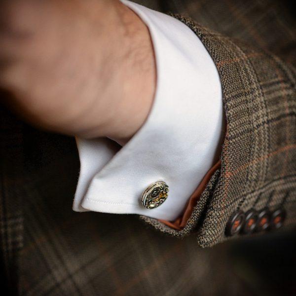 Steampunk Cufflinks with vintage watch movements. Upcycled watch movements mens  Cuff Links – Goth Chic