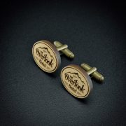The Shining Overlook Hotel - Wood  engraved cuff links
