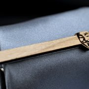 V for Vendetta Tie Clip - Maple wood tie bar