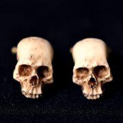 Victorian Skull Cufflinks - Scary Hand made resin skull cuff links