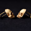 Victorian Skull Cufflinks - Scary Hand made resin skull cuff links