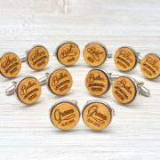 Wedding Cufflinks - Brother of the GROOM - Very elegant wooden wedding ceremony cuff links