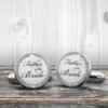 Wedding Cufflinks - Father of the Bride  - Very elegant wedding ceremony cuff links