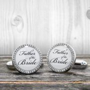 Wedding Cufflinks - Father of the Bride  - Very elegant wedding ceremony cuff links