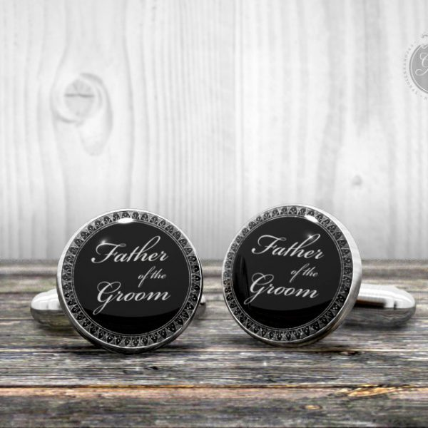 Wedding cufflinks - Father of the Groom - Very elegant wedding ceremony cuff links