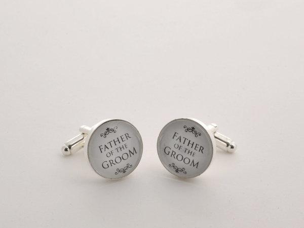 Wedding cufflinks - Father of the Groom - Very elegant wedding ceremony cuff links