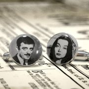 Wedding Cufflinks - The Addams Family  - Gomez and Morticia , Groom, Groomsman, Best Man or TEAM Groom Cuff Links