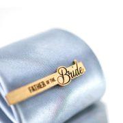 Wedding Tie Clip  Father of the Bride - Cypres wood tie bar