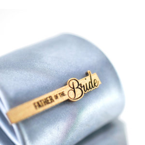 Wedding Tie Clip  Father of the Bride - Cypres wood tie bar