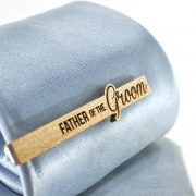 Wedding Tie Clip  Father of the Groom - Cypres wood tie bar