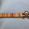Zebra Wood skull Tie Clip