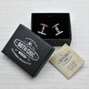 ELEGANT WOOD cufflinks - anchor stylish accessory