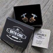 WOOD cufflinks - THEATRE DRAMA masks elegant cuff links