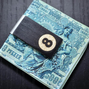 8 ball wood money clip, hand made Money Clip, Groomsmen gifts, Money Clip, Wood Money Clip, Groomsman Gift, Groomsmen gifts