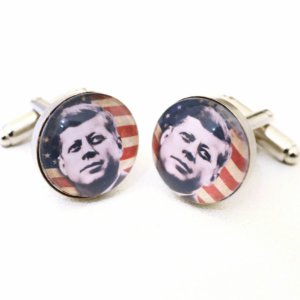 Cufflinks -  JFK - John Fitzgerald Kennedy - hand made - Groom, gromsman, best man or team groom cuff links