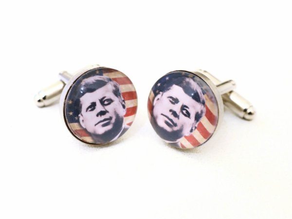 Cufflinks -  JFK - John Fitzgerald Kennedy - hand made - Groom, gromsman, best man or team groom cuff links