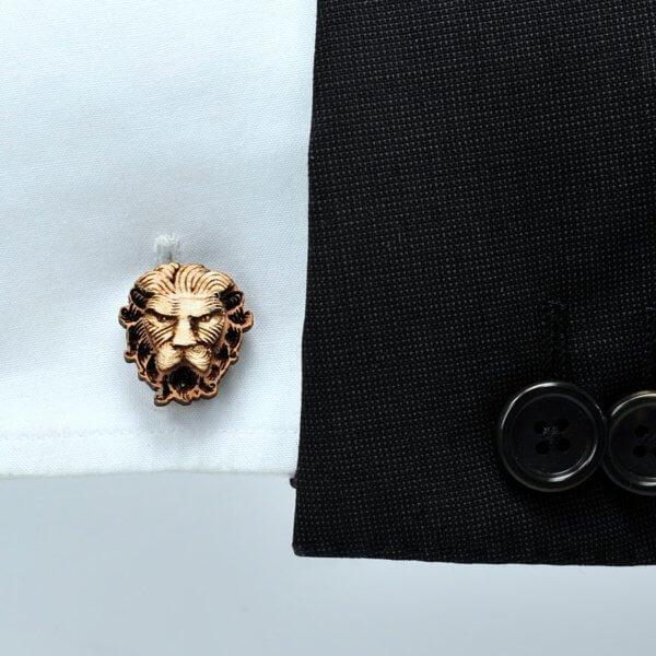 Lion Cufflinks, Engraved Wood Cufflinks, Wooden Cufflinks, Animal Cufflinks,  Mens Cufflinks, Unique Cuff Links, Wooden Cuff Links – Goth Chic