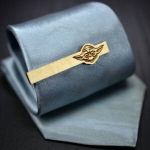 NEW Star Wars Tie Clip - 2018 YODA Maple wood tie bar