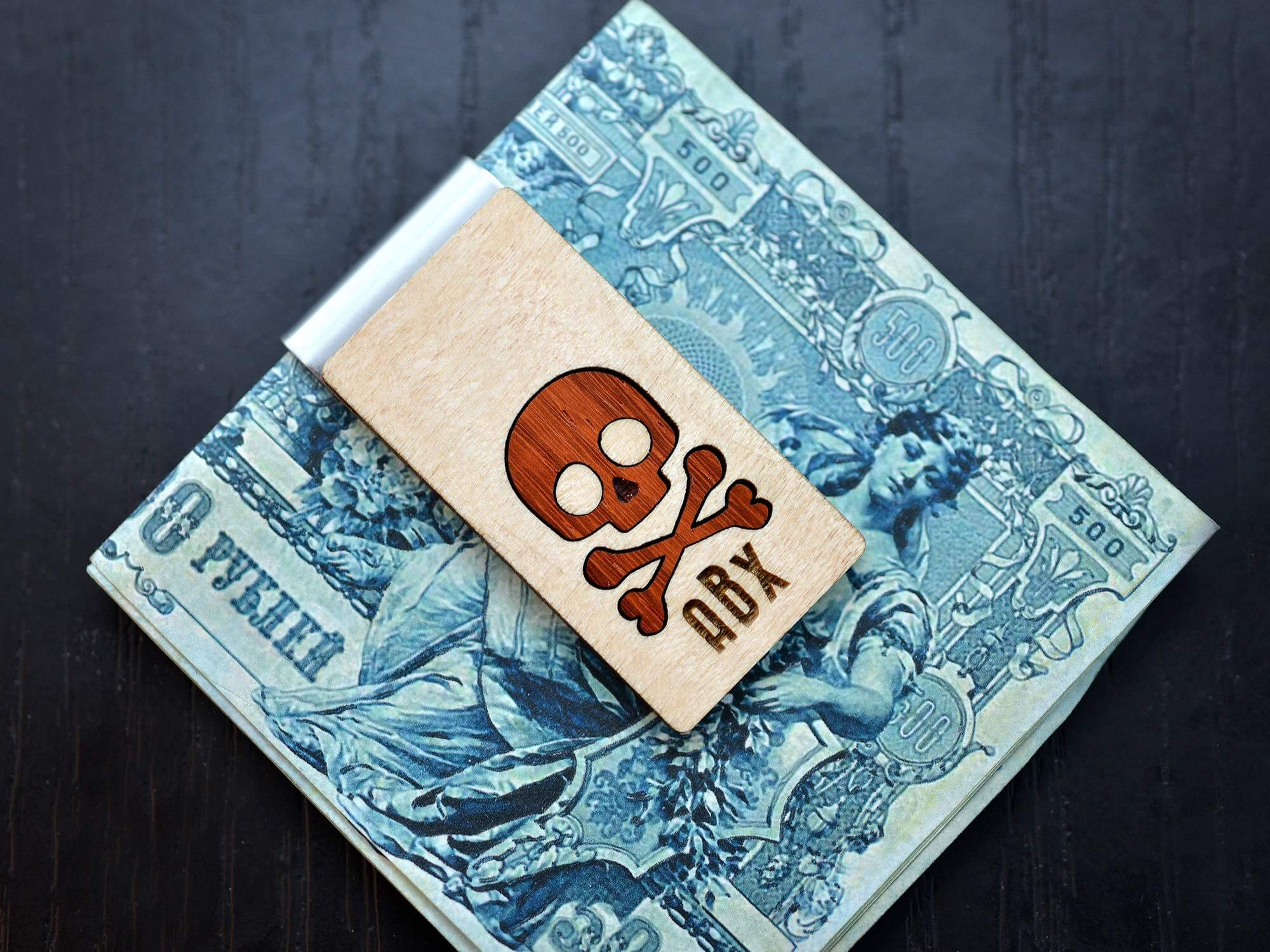 Personalized Money Clip, Skull inlaied wood Money clip, Groomsmen Money clips, Groomsmen Gift, Birthday, Anniversary Gift