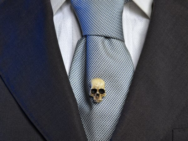 Human Skull brooch - hand made victorian replica skull tie pin - Wedding pin